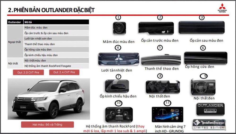 Các trang bị mới có trong Mitsubishi Outlander Special Edtion
