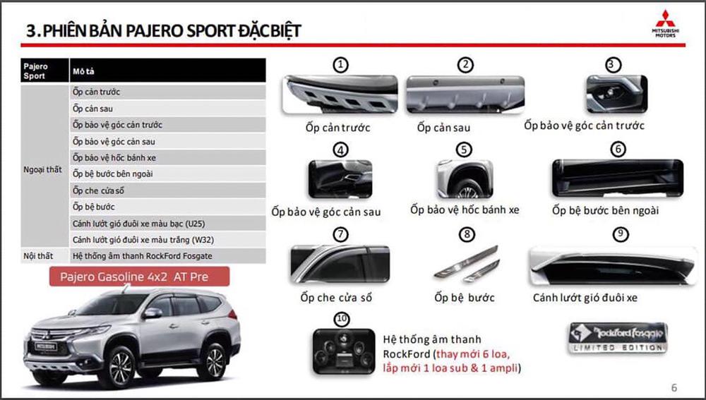 Các trang bị mới có trong Mitsubishi Pajero Sport Special Edtion