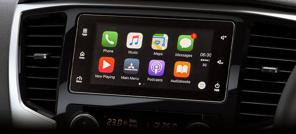Hệ thống thông tin giải trí tích hợp trên màn hình điều khiển 7 inch của Triton 2019