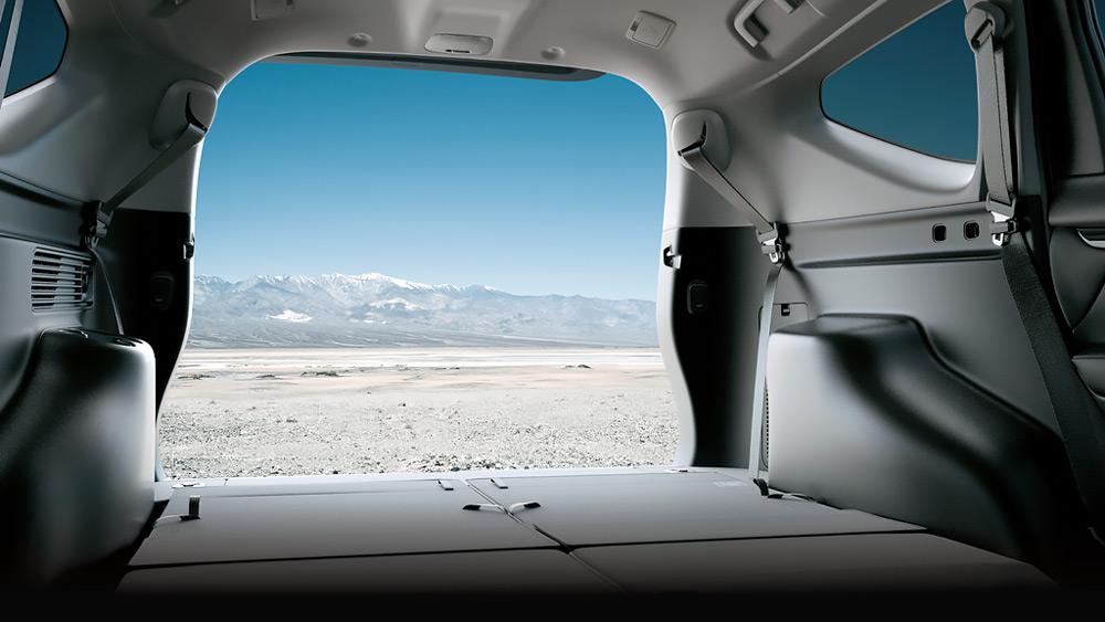 Khoang hành lý của Mitsubishi Pajero Sport