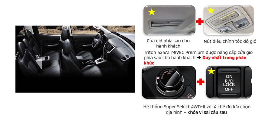 Những điểm nâng cấp nội thất Mitsubishi Triton 2020