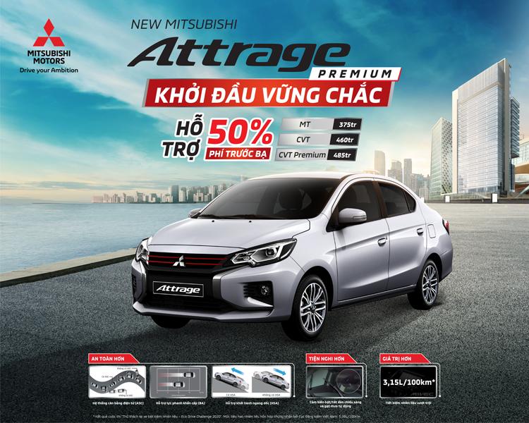 Mitsubishi Attrage CVT Premium 2021: Nâng cấp 8 điểm An toàn hơn - Tiện nghi hơn